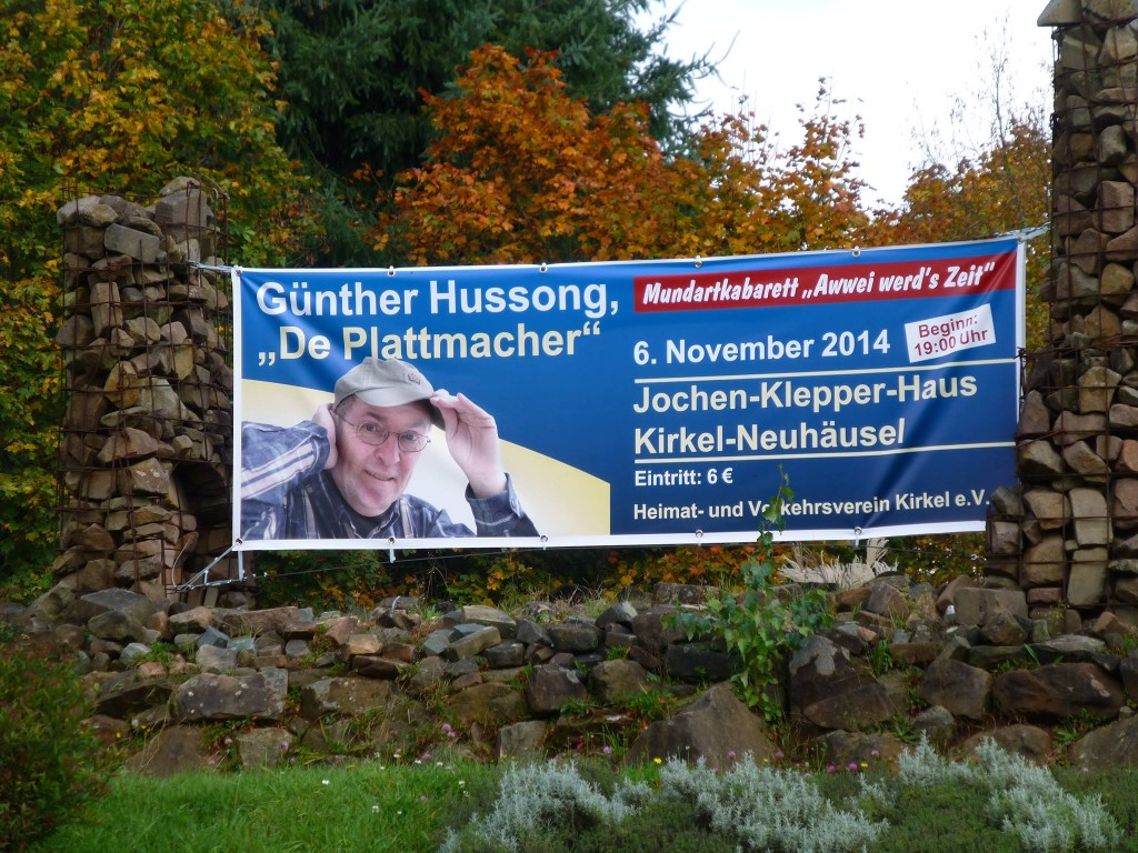 Banner am Kreisel in Kirkel